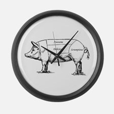 Tasty Pig Large Wall Clock