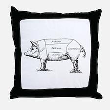 Tasty Pig Throw Pillow