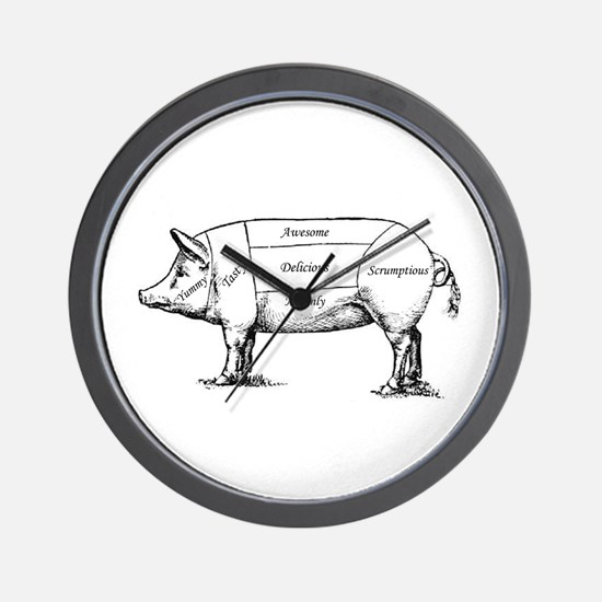 Tasty Pig Wall Clock