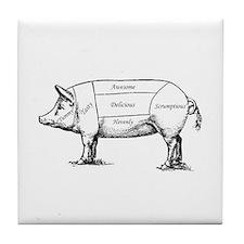 Tasty Pig Tile Coaster