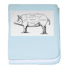 Tasty Pig baby blanket