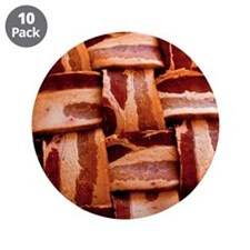 "Bacon weave 3.5"" Button (10 pack)"