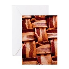 Bacon weave Greeting Cards