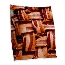 Bacon weave Burlap Throw Pillow