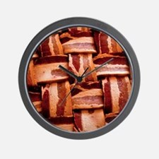 Bacon weave Wall Clock