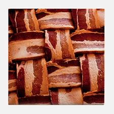 Bacon weave Tile Coaster