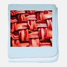 Bacon weave baby blanket
