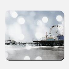 Grey Sparkling Pier Mousepad