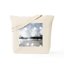 Grey Sparkling Pier Tote Bag