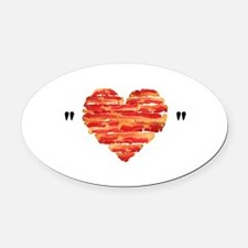 Bacon Quote Oval Car Magnet