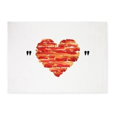 Bacon Quote 5'x7'Area Rug