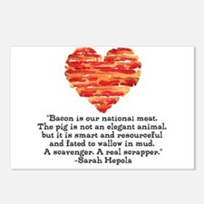Sarah Hepola Quote about Bacon Postcards (Package
