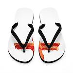 Bacon Cross Flip Flops