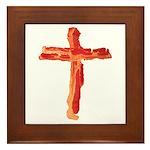Bacon Cross Framed Tile