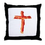 Bacon Cross Throw Pillow