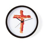 Bacon Cross Wall Clock