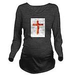 Bacon Cross Long Sleeve Maternity T-Shirt