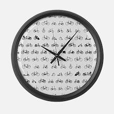 Bicycles Large Wall Clock