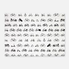 Bicycles 5'x7'Area Rug