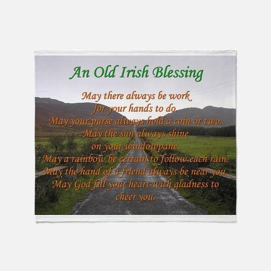 Old Irish Blessing #3 Throw Blanket