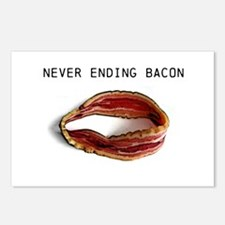 Never ending bacon Postcards (Package of 8)