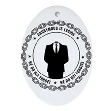 anonymoussealwithchain Ornament (Oval)