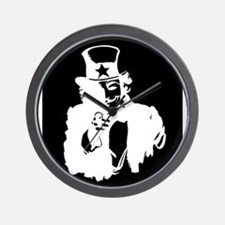 Guy Fawkes as Uncle Sam Inverted Wall Clock