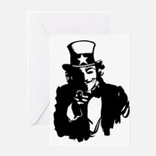Guy Fawkes as Uncle Sam Greeting Cards
