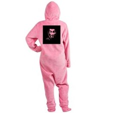 Guy Fawkes in a Sweatshirt Footed Pajamas