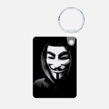 Guy Fawkes in a Sweatshirt Keychains