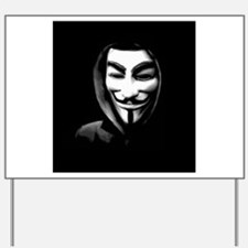 Guy Fawkes in a Sweatshirt Yard Sign