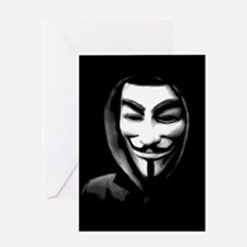Guy Fawkes in a Sweatshirt Greeting Cards