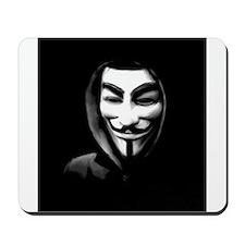 Guy Fawkes in a Sweatshirt Mousepad