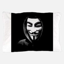 Guy Fawkes in a Sweatshirt Pillow Case