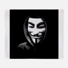Guy Fawkes in a Sweatshirt Throw Blanket