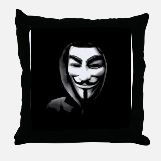 Guy Fawkes in a Sweatshirt Throw Pillow
