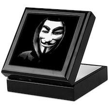 Guy Fawkes in a Sweatshirt Keepsake Box
