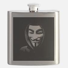 Guy Fawkes in a Sweatshirt Flask
