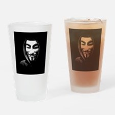 Guy Fawkes in a Sweatshirt Drinking Glass
