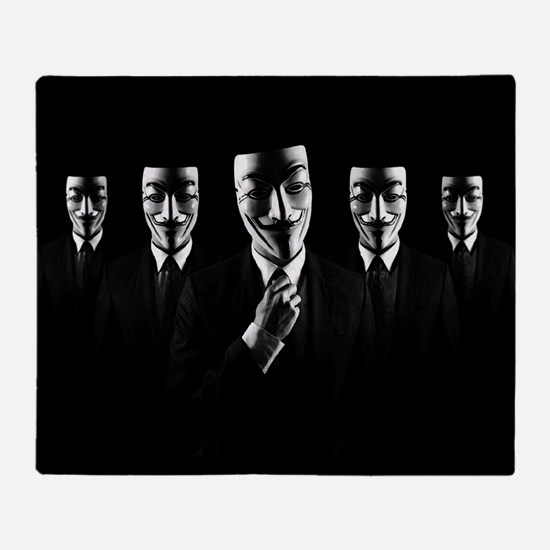We are anonymous Throw Blanket