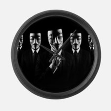 We are anonymous Large Wall Clock