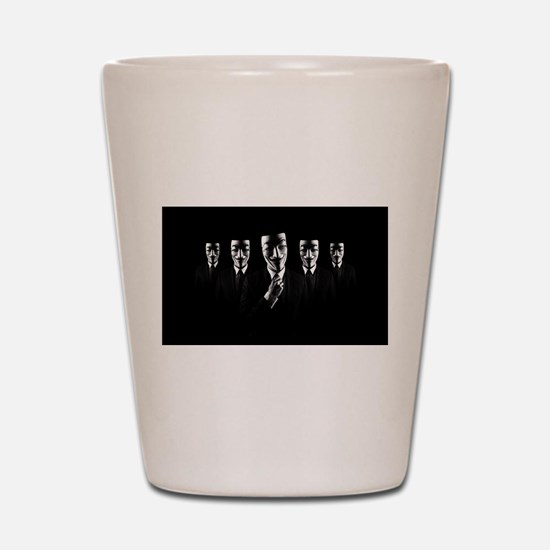 We are anonymous Shot Glass
