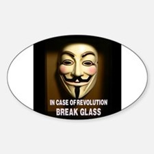 In case of revolution, break glass. Decal