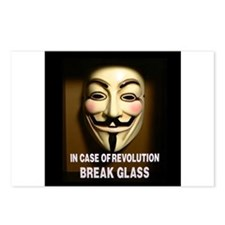 In case of revolution, break glass. Postcards (Pac