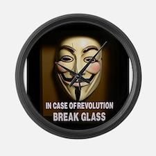 In case of revolution, break glass. Large Wall Clo