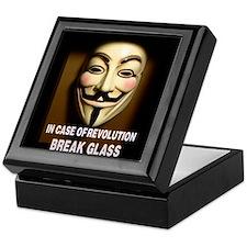 In case of revolution, break glass. Keepsake Box