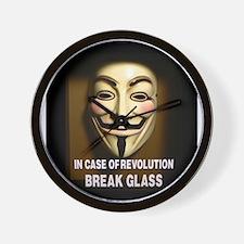 In case of revolution, break glass. Wall Clock