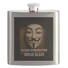 In case of revolution, break glass. Flask