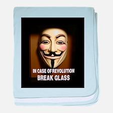 In case of revolution, break glass. baby blanket