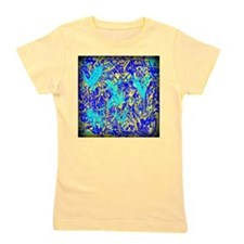 Blue and Yellow Abstract Girl's Tee